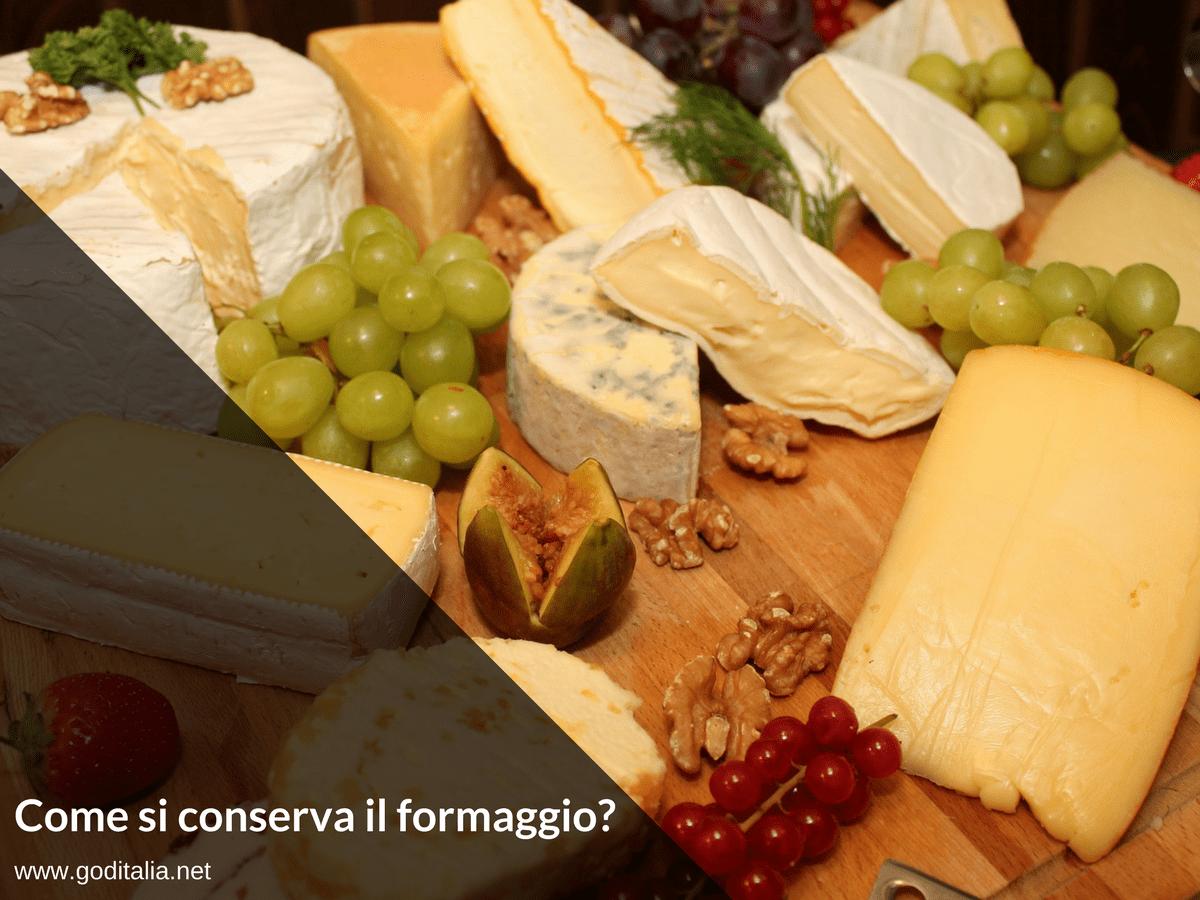 conservare il formaggio