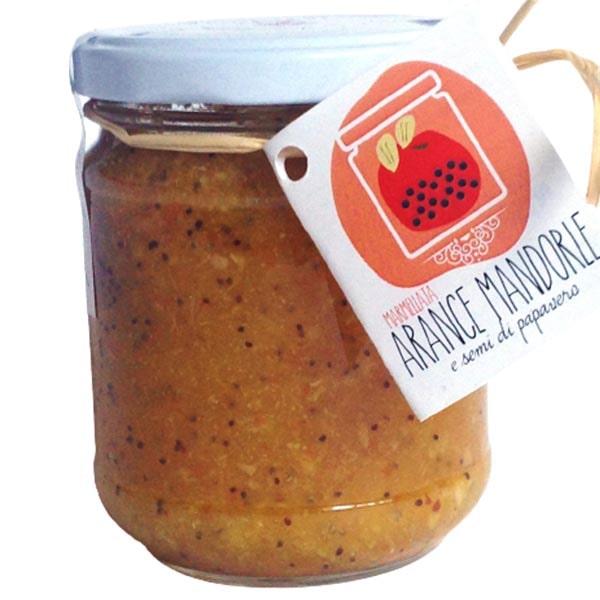 marmellata di arance mandorle e semi di papavero