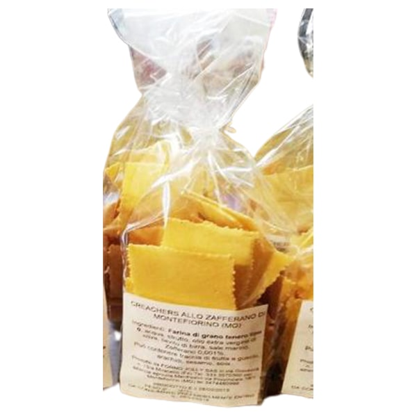 Cracker allo zafferano di Montefiorino